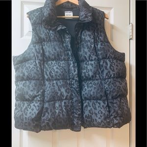 Old Navy Leopard Print Puffer Vest